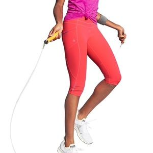 Athleta Dobby Be Free Knicker Legging Coral